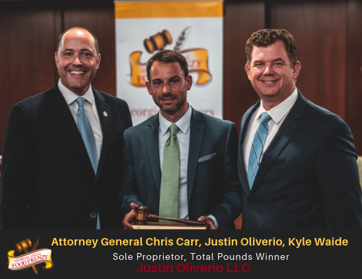 AG Chris Carr, Justin Oliverio, Kyle Waide (ACFB)